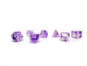 Polyhedral Dice Set - Purple Glacier - 7 Piece PRISTINE Edition - FREE Carrying Bag - Hand Checked Quality