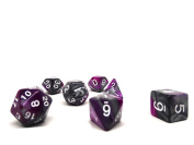 Purple and Grey Granite Polyhedral Dice Set   7 Piece Matching Set   PRISTINE Edition   FREE Carrying Bag   Hand Checked Quality