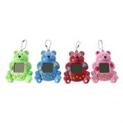 StyLeShop LCD Virtual Digital Pet Toy - Cute Bear Shape Handheld Electronic Game Machine With Keychain - 1PC