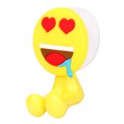 Emoji Expression Toothbrush Holder Double Sucker Rack Hooks expression toothbrush rack hanger heart pattern