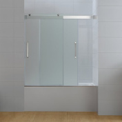 Ove Decors Beacon 150cm x 150cm Sliding Double Frosted Glass Tub Door