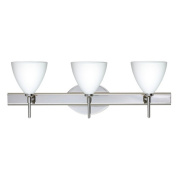 Besa Lighting 3SW-177907 Mia 3 Light Reversible Halogen Bathroom Vanity Light wi