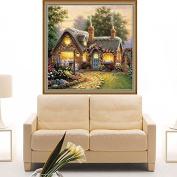 Kofun 5D Diamond Embroidery Painting DIY Warm Lodge House Cross Stitch Home Decor Craft 30x30 cm