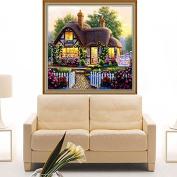 Kofun 5D Diamond Embroidery Painting DIY Handmade Beautiful Garden House Counted Cross Stitch 30x30 cm