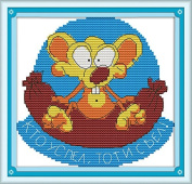 Chreey The Funny Animals Series (1) - Mouse Cross Stitch Fashion Crafts Home Art Decoration [20x19cm]