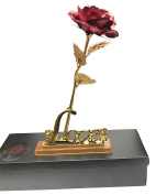 Rose Flower 24K Gold Plated Love Stand Valentine's Day Present Gift Loved One
