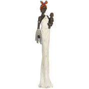 African Lady With Baby Sculpture Figurine Home Decor