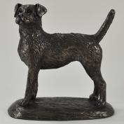 Border Terrier Cold Cast Bronze Sculpture by Harriet Glen
