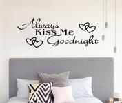 "Kolylong® ""Always Kiss Me Goodnight"" Home Decor Wall Sticker Decal Bedroom Vinyl Art Mural"