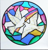 Static Window Clings in a Doves of Peace Design.