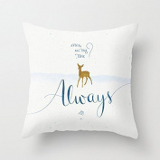 Home Style diylancas Cotton Linen Throw Pillow Cover Cushion Case Harry Potter Always - 45 X 45 cm Square Design