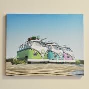 VW Canvas Wall Art Campervan Three Way Split