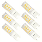 Kakanuo G9 LED BULB 3W Equivalent 40W Warm White 3000K 380Lumens AC100-265V Non-Dimmable Energy Saving 52x2835SMD