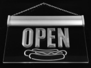 Multi Colour j826-c OPEN Hot dog Cafe Shop Fast food Neon LED Sign with Remote Control, 20 Colours, 19 Dynamic Modes, Speed & Brightness Adjustable, Demo Mode, Auto Save Function