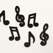 24 wooden music note - black