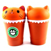 Cut Coffee Cup Cat Scented Squishy, SEWORLD Slow Rising Squeeze Toy Collection