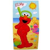 Sesame Street Plaza Sesamo Fibre Reactive Beach Towel - Elmo & Lola Sandcastle Beach Fun