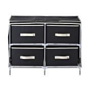Homestar ZH141796BL 4-Drawer Fabric Dresser