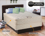 """Dreamy Collection Medium Firm Eurotop (Pillowtop) Queen 150cm x 200cm x 10"""" Mattress and Box Spring Set-Spinal Back Support, Premium edge guards, Longlasting Comfort by Dream Solutions USA"""