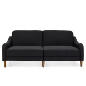 Best Choice Products Mid-Century Modern Linen Futon Sofa