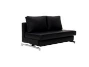 J and M Furniture 176014-BK Premium Sofa Bed K43-2 Leatherette, Black