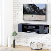 FITUEYES Wall Mounted Audio/Video Black wood grain for xbox one /PS4/ vizio/ Sumsung/sony TV DS210002WB