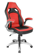 Racing Style Gaming High Back Chair for Executive/Manager/Gamers/Adults/Teenager (05174A), Ergonomic Office Computer Swivel Chair with Durable Armrests. Red/Black. ProHT