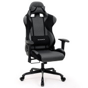 SONGMICS Gaming Chair Racing Sport Chair High-back Office Chair with the Headrest and Lumbar Support URCG02G