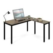 DEVAISE L-Shaped Desk Corner Computer Desk PC Workstation