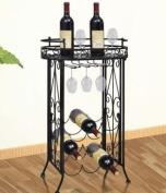 SKB Family Modular Metal Wine Rack Wine Table with Hooks for 9 Bottles Holder wine