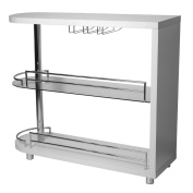 Homegear Deluxe Kitchen Bar Table - White