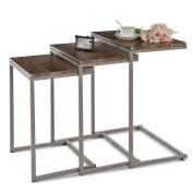 IKAYAA Modern Metal Frame Coffee and Cocktail Table