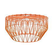 Joveco Rose Gold Bird's Nest Metal Round End Table Nesting Coffee Table without Glass Top