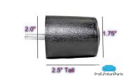 ProFurnitureParts 6.4cm Inch Round Sofa Legs in Black Colour, Sold as Set of 4, HDPE Plastic