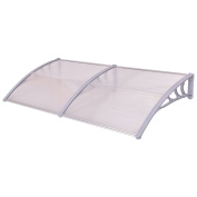 Love+Grace Costway Outdoor Front Door, Window Awning Patio Cover, Clear