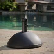 Shoal 25kg Black Dome Concrete Umbrella Holder