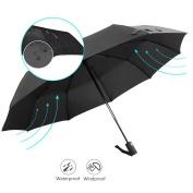 Automatic Folding Umbrella, Vati Rain-Mate Compact Travel Golf Umbrella - Windproof, Reinforced Canopy, Ergonomic Handle, Lightweight for Men Women and Kids, Auto Open/Close Multiple Colours