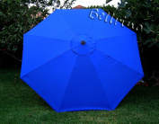 """BELLRINO DECOR Replacement ROYAL BLUE """" STRONG & THICK """" Umbrella Canopy for 2.7m 8 Ribs"""