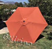 "BELLRINO DECOR Replacement BRICK "" STRONG & THICK "" Umbrella Canopy for 2.7m 6 Ribs BRICK"