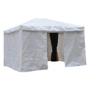 Outsunny All Weather UV Blocking Gazebo Protective Cover w/ Side Walls & Access Door