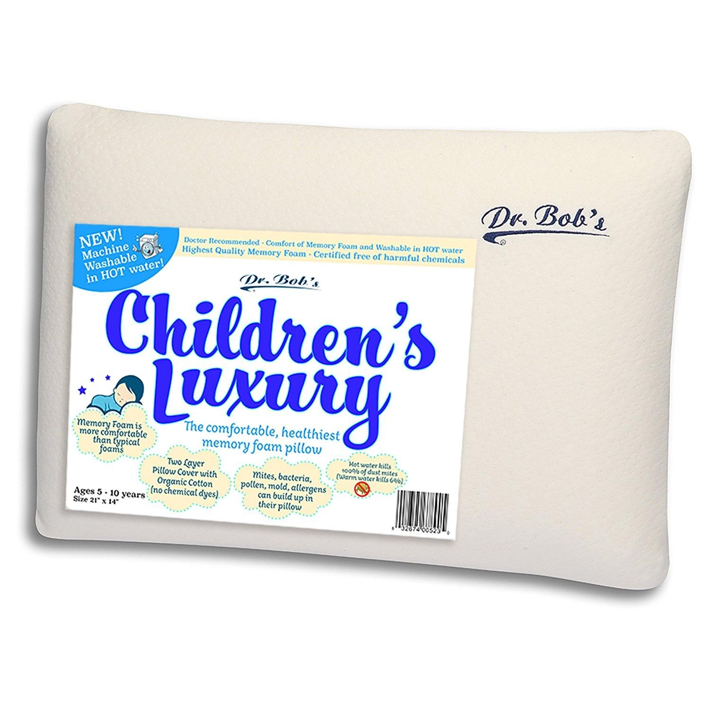 Children S Luxury Kids Bed Pillow By Dr Bob S New Memory Foam