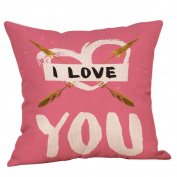 Throw Pillow Case, Lotus.flower Valentine's Day Pattern Printing Cushion Cover Cotton Linen Home Sofa Decoration