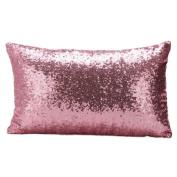 Junshion Fashion Sequins Sofa Bed Home Decorative Rectangle Pillow Case Cushion Cover 30CM X 50CM