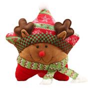 Christmas Elk Throw Pillow Pentagram Shape Cushion Christmas Home Party Decoration Xmas Gift