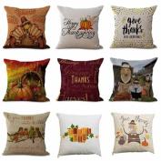 Staron Thanksgiving Pillow Case Cushion Cover Square Cotton Linen Throw Pillowcases Sofa Bed Waist Home Decor