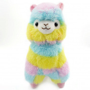 Xiting Llama Rainbow Alpaca Doll Soft Baby Stuffed Animal Toy Puppet Doll Valentine's Day Birthday Xmas Christmas Wedding