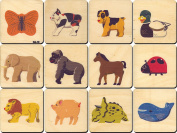 Animal Memory Tiles - Made in USA