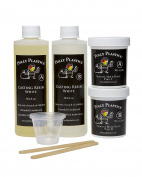 Polly Plastics White Casting Resin and Silicone Mould Putty Kit. 470ml Casting Resin. 0.2kg. Putty