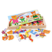 Cartoon Bear Dressing Early Learning Toys Minuya Baby Wooden Puzzle Toys