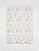 ALVI Crawling Blanket Play Blanket Globetrotters 100 x 135 cm